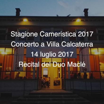 Concerto Villa Calcaterra 14 luglio 2017