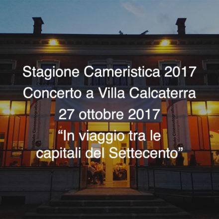 Concerto Villa Calcaterra  27 ottobre 2017
