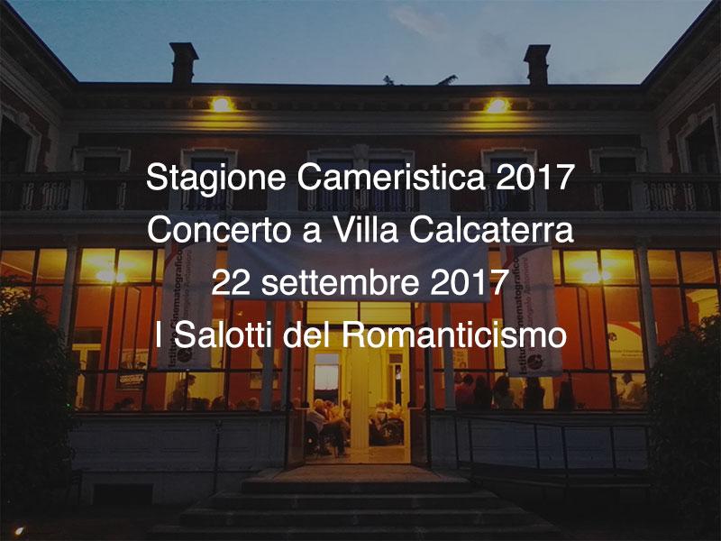 Concerto Villa Calcaterra 22 settembre 2017