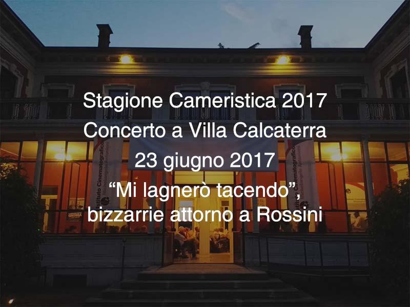 Concerto Villa Calcaterra  23 giugno 2017