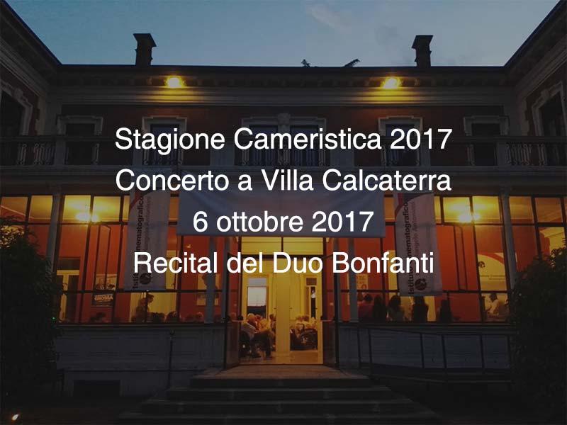 Concerto Villa Calcaterra 6 ottobre 2017