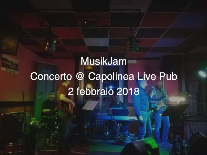MusikJam 2 febbraio 2018 @ Capolinea Live Pub