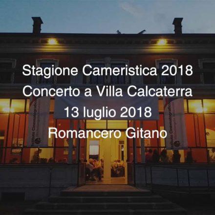 Concerto Villa Calcaterra 13 luglio 2018