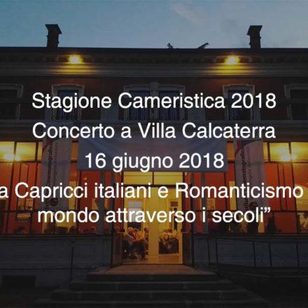 Concerto Villa Calcaterra 16 giugno 2018