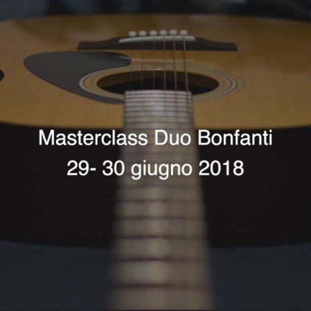 Masterclass Duo Bonfanti 29-30 giugno 2018