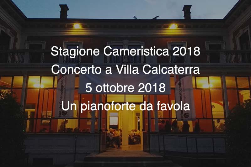 Concerto Villa Calcaterra 5 Ottobre 2018