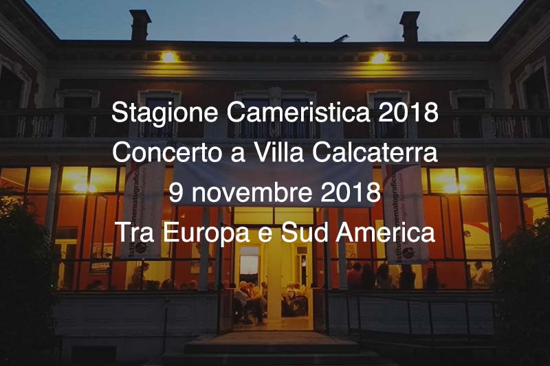 Concerto Villa Calcaterra 9 Novembre 2018