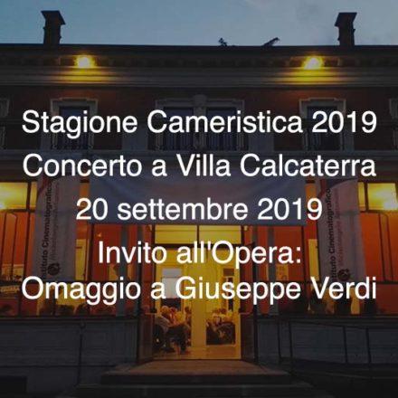 Concerto Villa Calcaterra 20 Settembre 2019