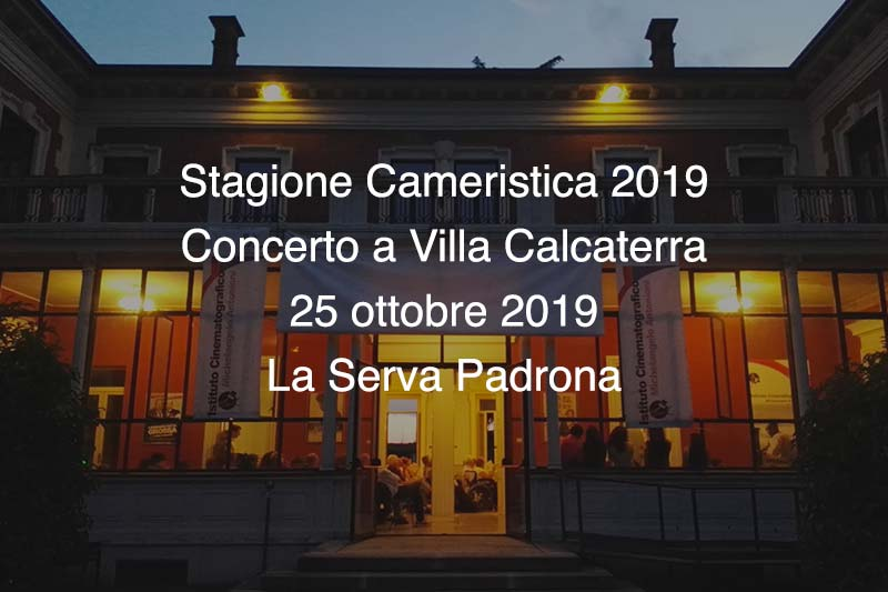 Concerto Villa Calcaterra 25 Ottobre 2019