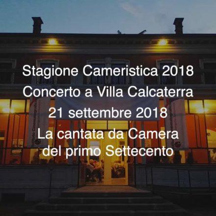 Concerto Villa Calcaterra 21 Settembre 2018